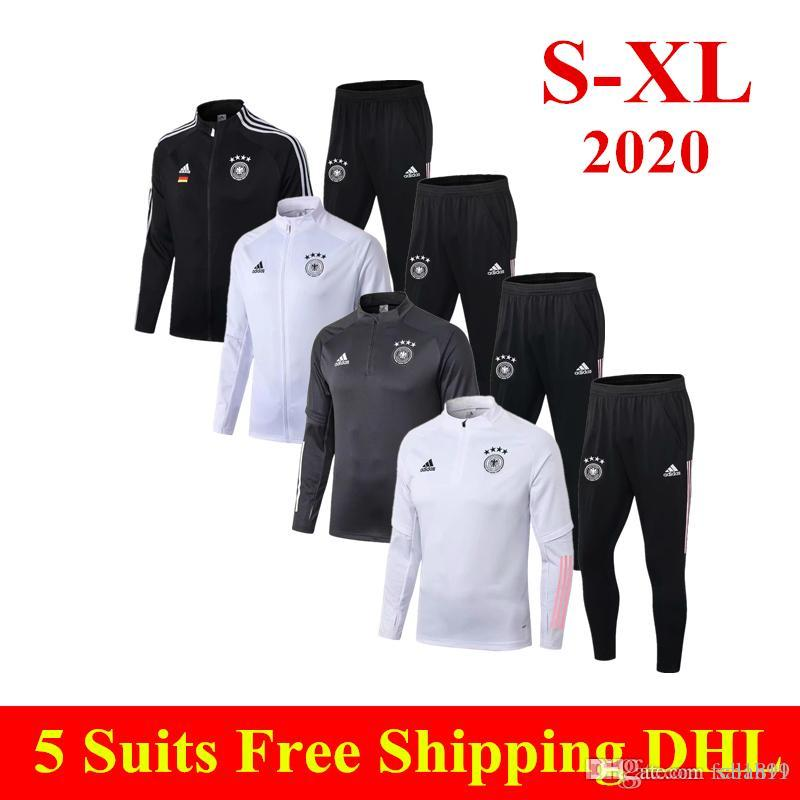 Thai Quality 2020 KROOS white training suit DRAXLER REUS Football uniform WERNER KIMMICH GNABRY long sleeve zipper soccer jacket tracksuits
