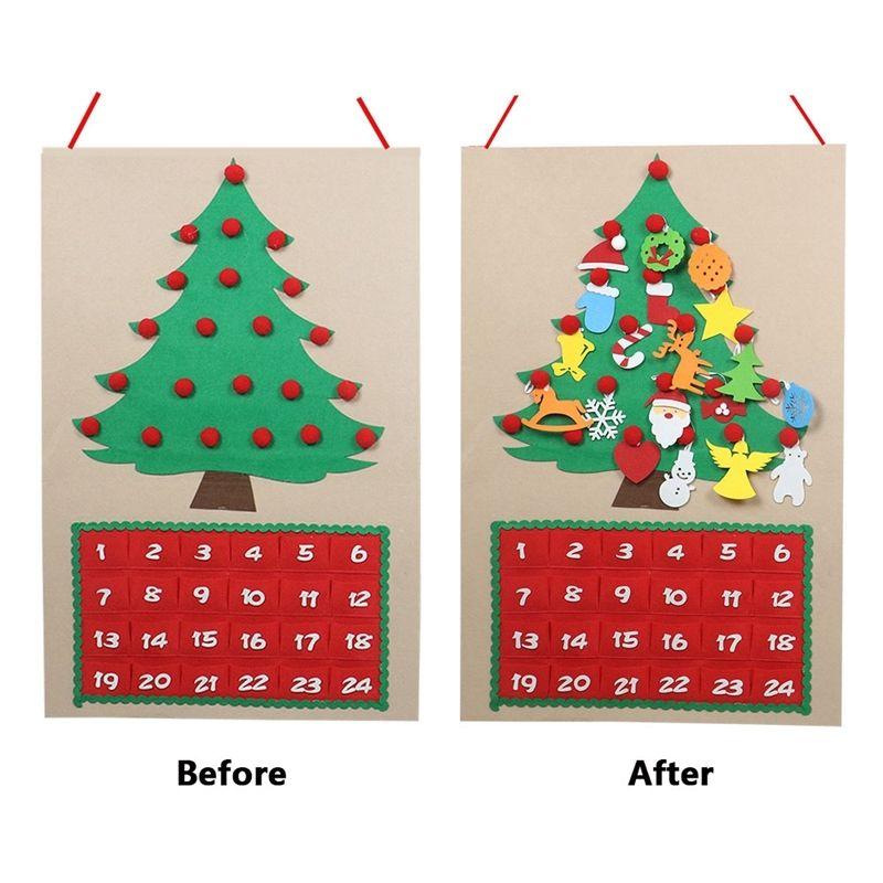 Christmas Tree Felt Advent Calendar Countdown To Christmas Homemade Advent Calendar Party Decoration Christmas Decorations