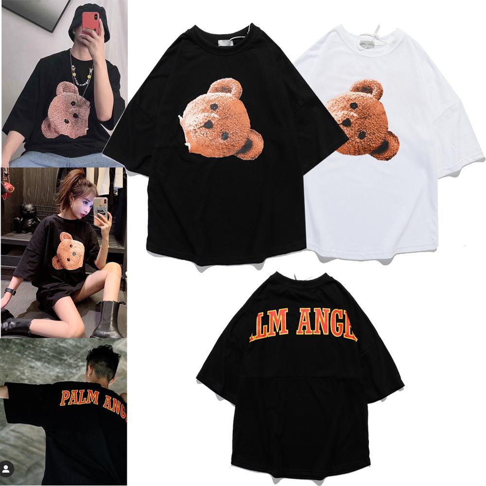 novo verão de algodão respirável 2020 casal de manga curta T-shirt9WTM