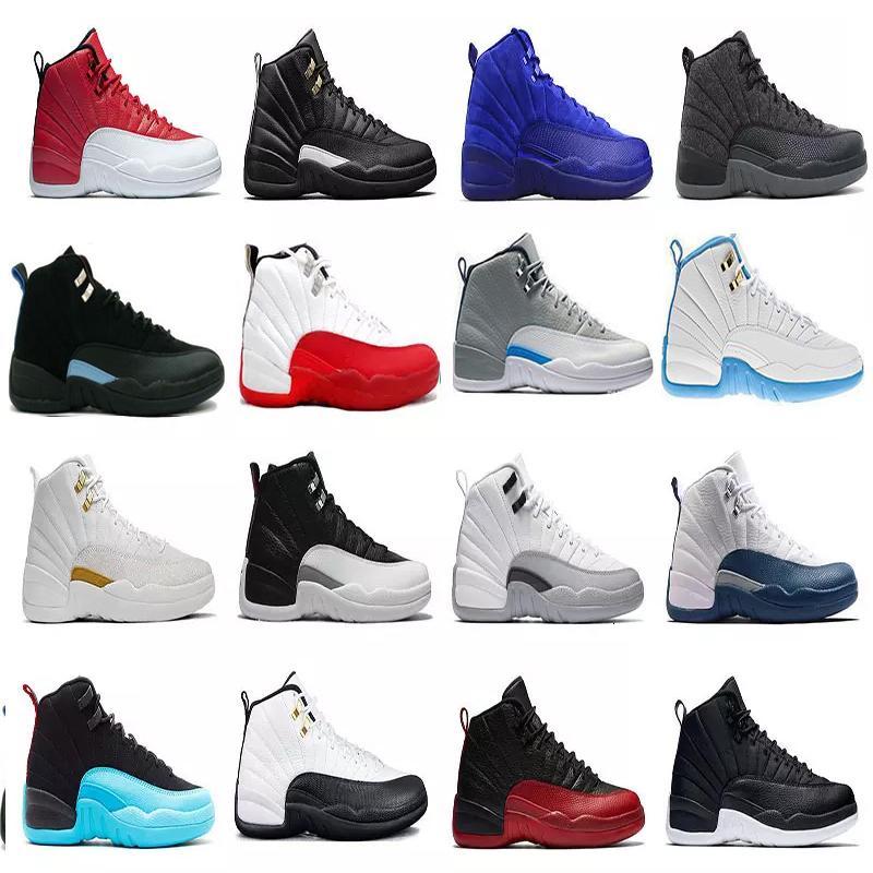 2020 12s 12 uomini scarpe da basket Winterized Palestra Red Michigan Bordeaux bianchi playoff nero Flu gioco Taxi sport della scarpa da tennis formatori dimensioni 7-13