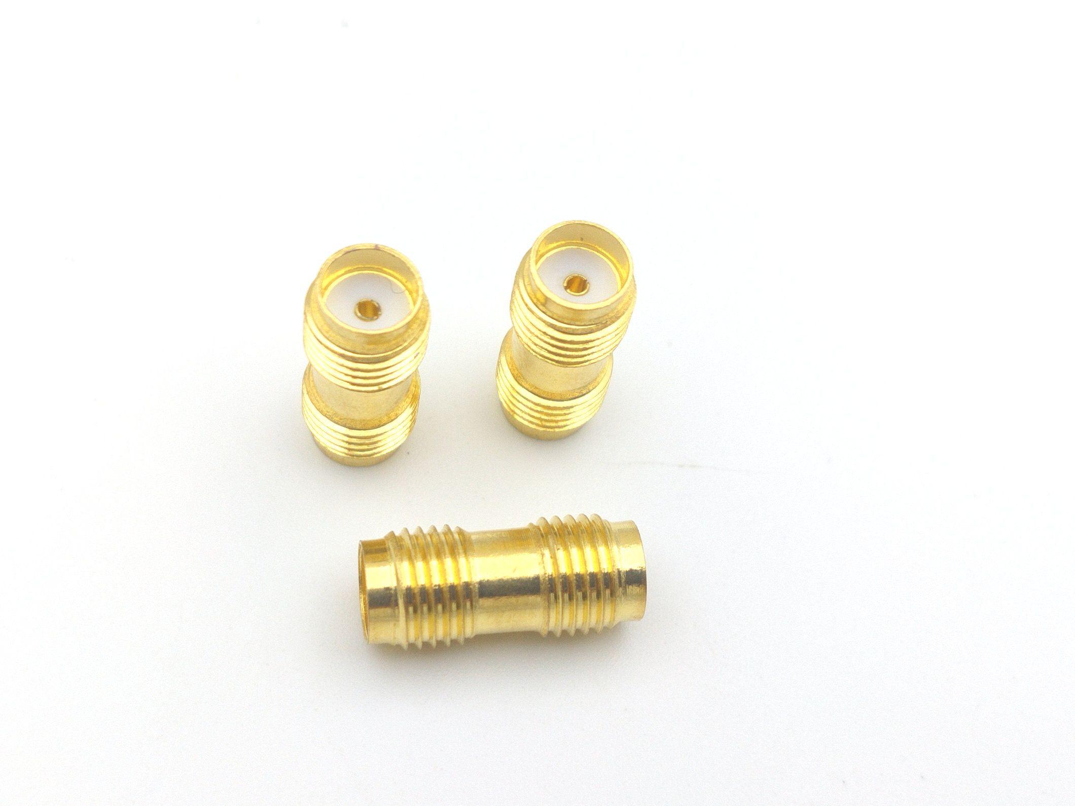 1000PCS مطلية بالذهب SMA أنثى إلى جاك أنثى SMA في محول RF سلسلة المحورية