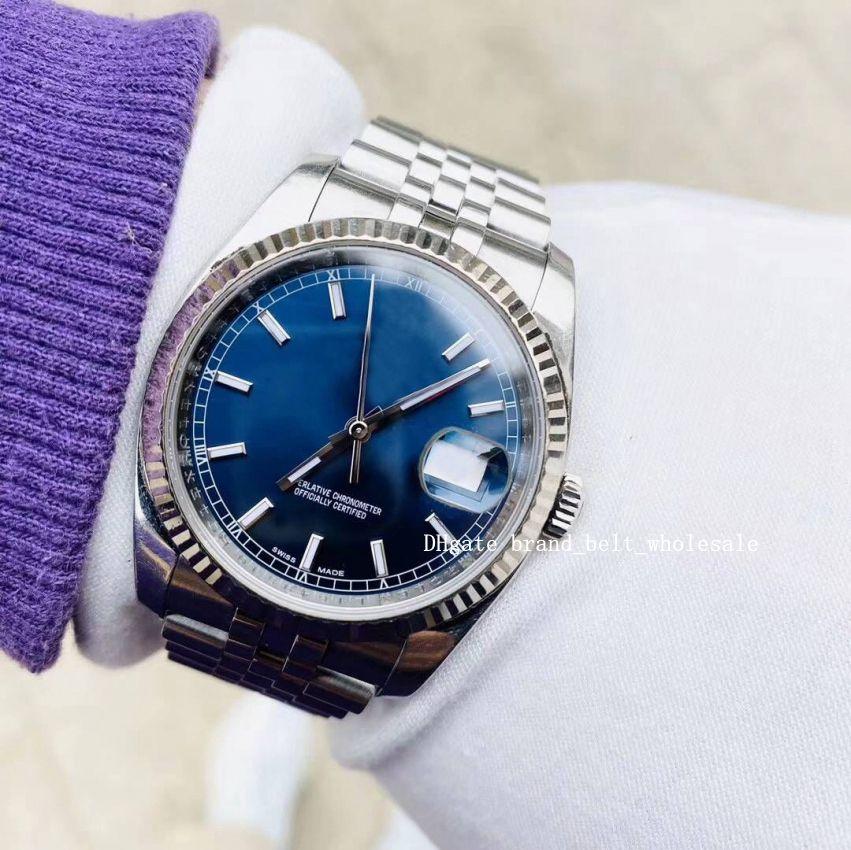 Горячие продажи роскошные часы синий циферблат пять Батов 116234 178274 Rehaut Jub часы грудь 36 мм автоматические мужские и женские Наручные часы лучший подарок