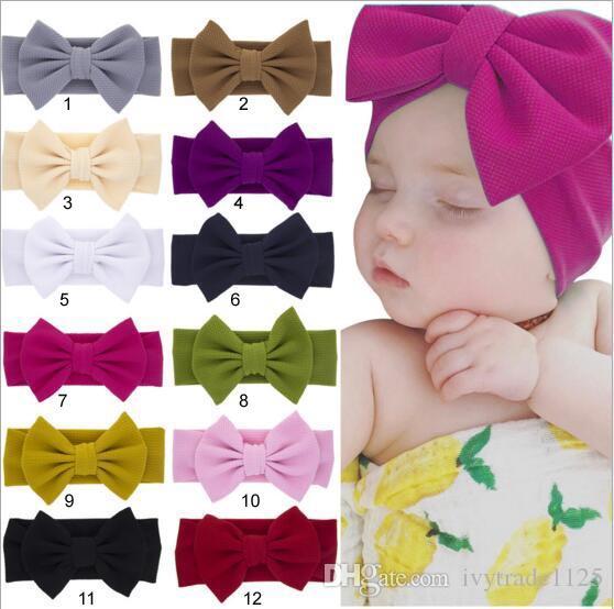 multi Farben IN reizenden großen Bogen-Stirnbänder Süßigkeit-Farben-Haar-Accessoires Mode schöne Bogen Kinder Baby Kinder Haarband gibt Schiff frei