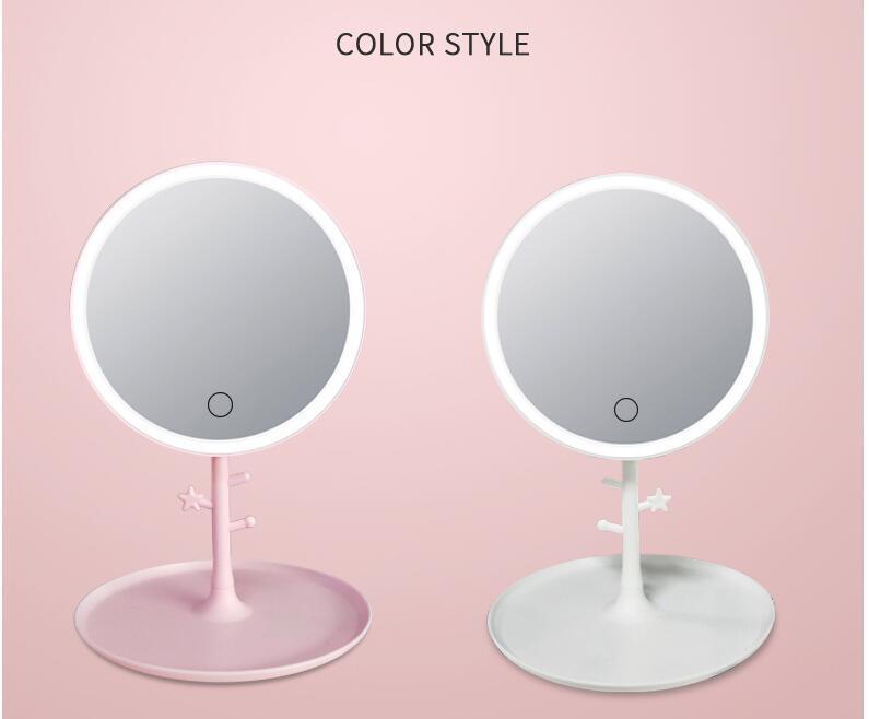 Led Makeup Mirror Beauty Folding, Led Makeup Mirror Desktop