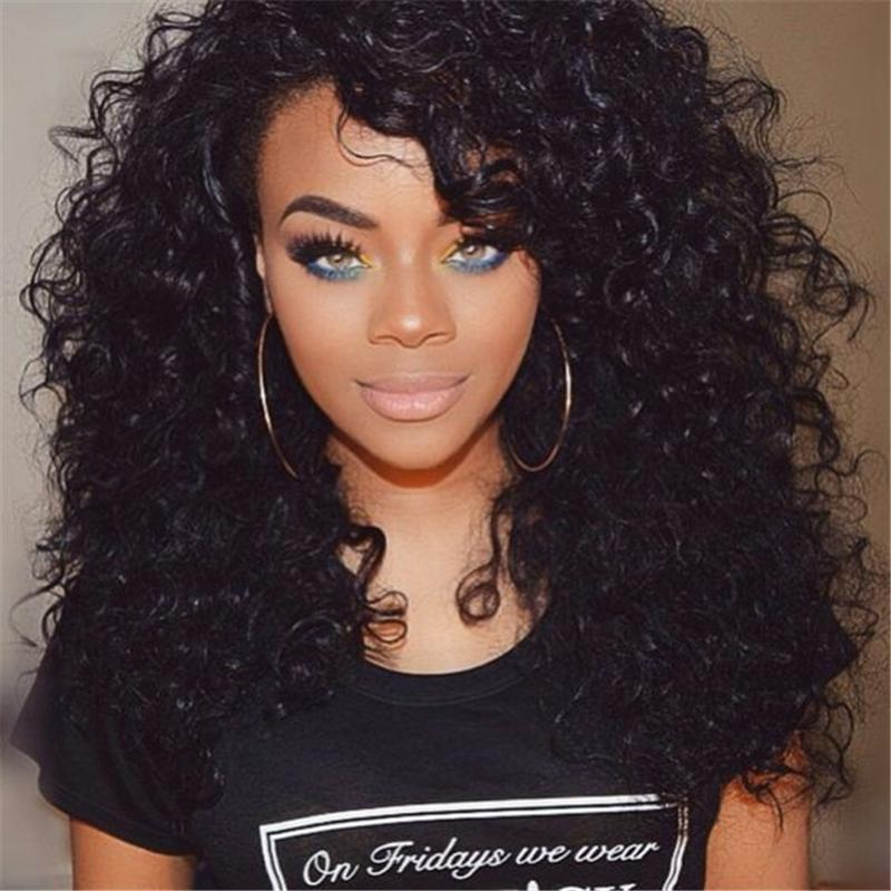 8A Deep Wave Brazilian Human Hair Wigs Silk Base Full Lace Wigs with Pre Plucked Hairline Baby Hair Bleach Knots For Black Women