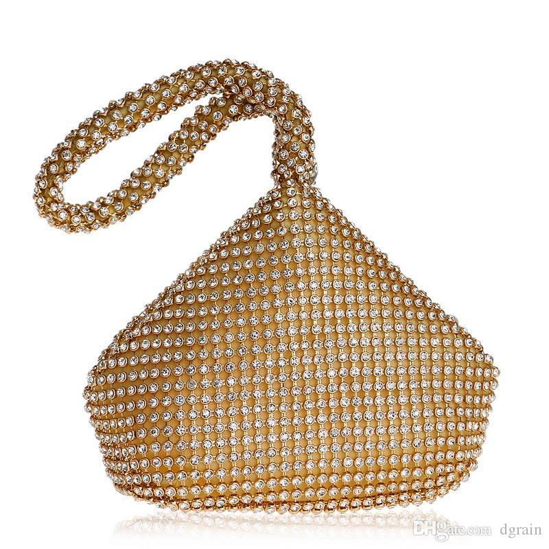Dgrain Diamond Damen Silber Perlen Clutch Abend Handtaschen und Geldbörsen Silber Kristall Braut Kleine Hochzeit Schminktäschchen Box Abendtaschen