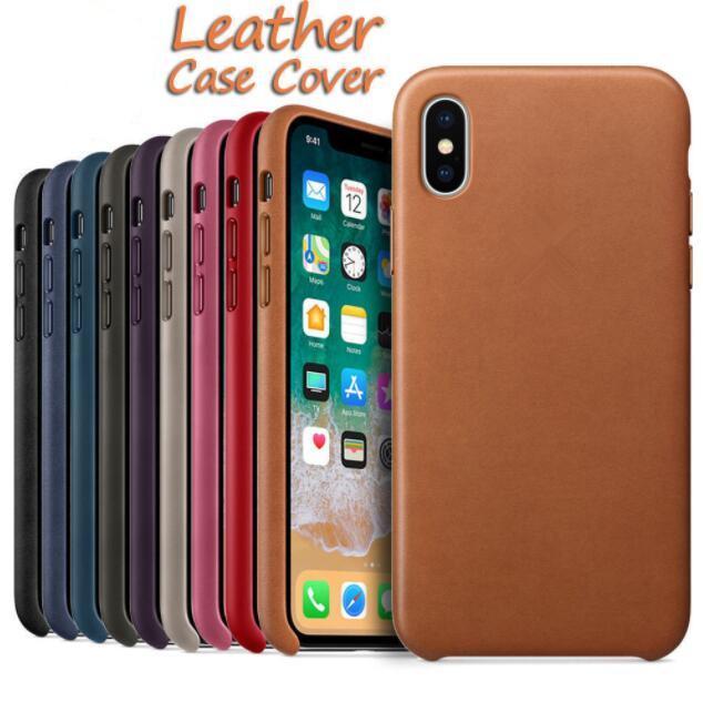 iPhone XS max XR 8 7 Artı 6 6S İçin Orjinal Lüks Kapak PU Deri Darbeye Mat Ön Telefon Kılıfları