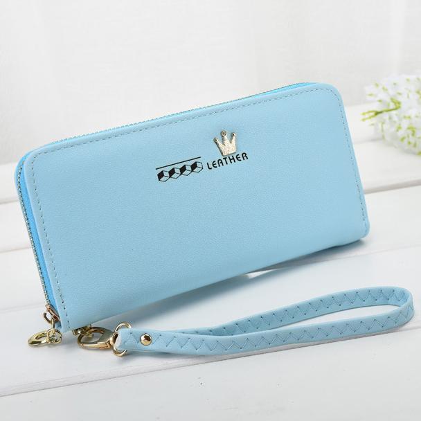 Fashion Women Wallets Lady Zipper Coin Purse Cards ID Holder Brand Crown Woman Long Wallet Handbags Moneybags Purses Pocket Bags