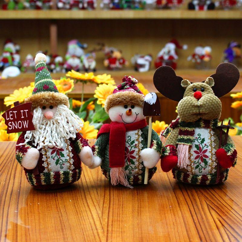 Christmas Hanging Cloth Doll Santa Pendant Snowman Elk Table Christmas Ornament Party Decor Gift Home Party Xmas Decoration