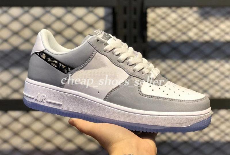 Womens 1 Eğik Düşük En Sneakers oblikler ayakkabı Lüks Erkekler Ayakkabılar 2020 Yeni Skate Ayakkabı Spor havası bir Moda Koşu Womens