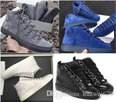 Hommes Classique en cuir véritable femme Arena Marque Chaussures Homme Flats Chaussures montantes Mode homme Casual Chaussures lacées grande taille 36-47