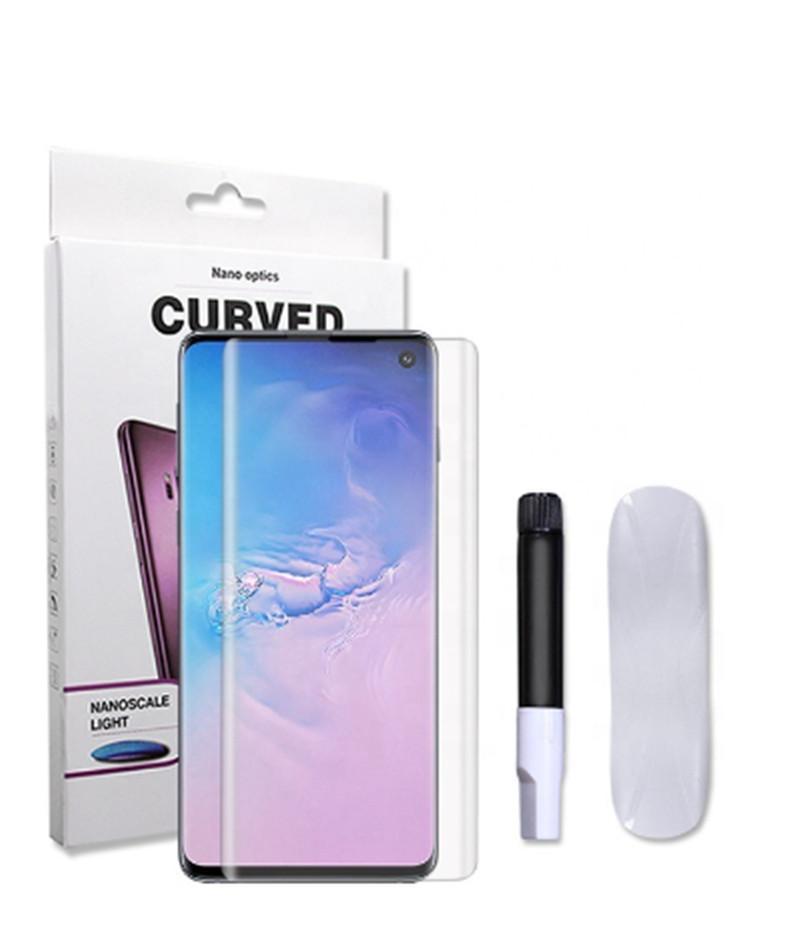 UV NANO Flüssiges Voll Kleber 3D Gebogenes gehärtetes Glas für Samsung Galaxy Note 10 S10 Plus-S9 S8 plus Huawei P30pro Screen Protector