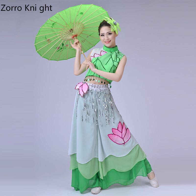ازياء زورو KNI GHT ازياء الرقص الكلاسيكي بركة ضوء القمر الأداء الصينية معطف واق من المطر الرقص ملابس النساء الكبار S-4XL