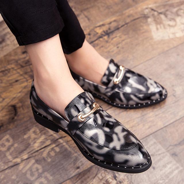 Мокасины Формальные Кожаные Туфли Для Мужчин Большой Размер Мужчины Оксфорд Обувь Свадебное Платье 2020 Дизайнерская Обувь Мужчины Синий Chaussures Homme Luxe