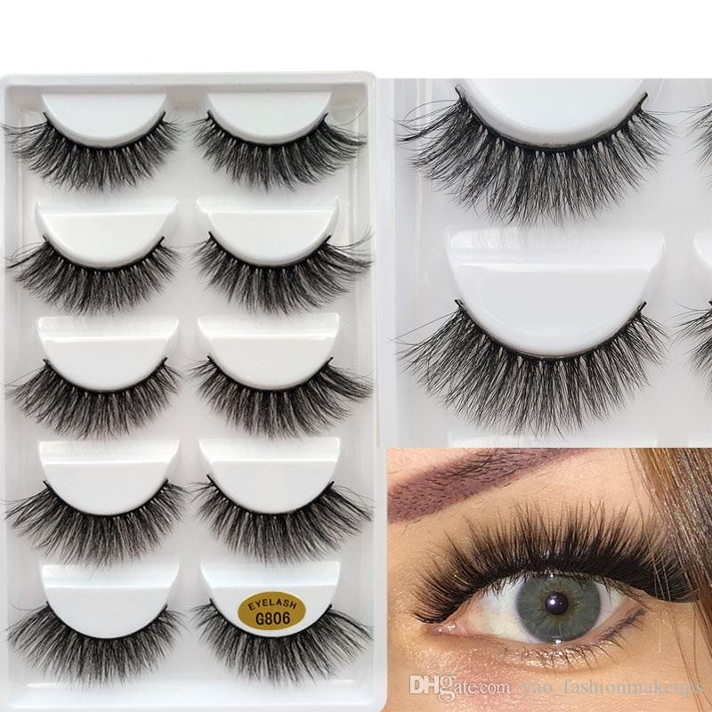 5 pair cheap fashion luxury private label eyelash create your own brand wholesale custom individual blink pingdu 5D faux mink false lashes