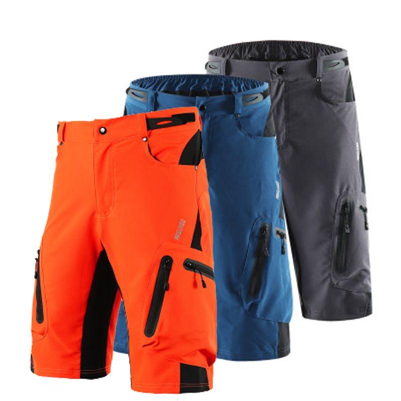 Toptan ARSUXEO Erkekler Yaz Bisiklet Şort Off-road İniş DH BMX MTB Dağ Bisikleti Bisiklet Şort Doğa Sporları Kısa Pantolon