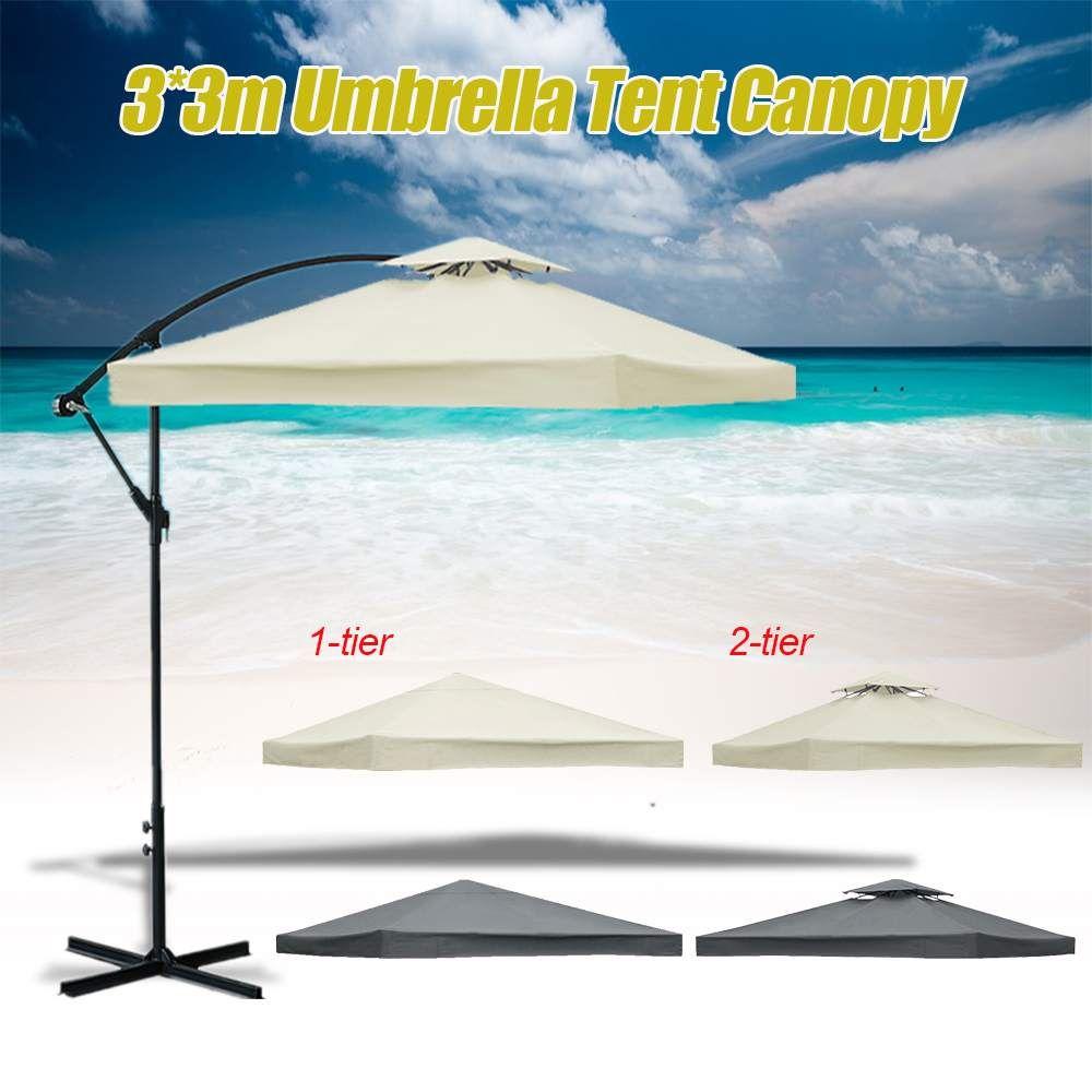 3x3m 우산 캐노피 레인 커버 안티 UV 방수 먼지 폴리 에스테르 캐노피 썬 블록 야외 가든 테라스 파라솔 썬 대피소