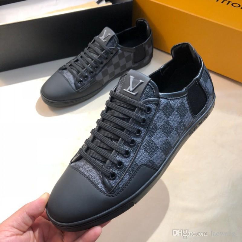 Lace-Up Shoes Casual Mens di lusso Lo-Top Sneakers in pelle Colorfull Grandi Dimensioni Chaussures pour hommes Fashion Sneakers Appartamenti Vendita calda
