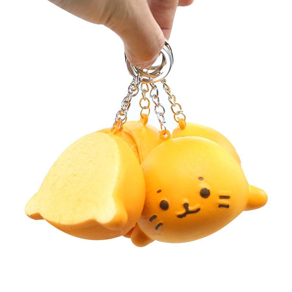 Pendente del sacchetto PU Carino Espressione colore Pu simulazione della testa del gatto della testa del gatto del modello del telefono mobile Rope rimbalzo lento decorazione domestica