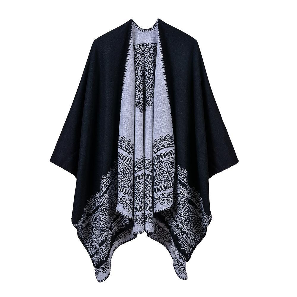 modello sciarpe di pizzo generoso classico scialle stile rustico diviso mantello delle donne 130 * 150CM