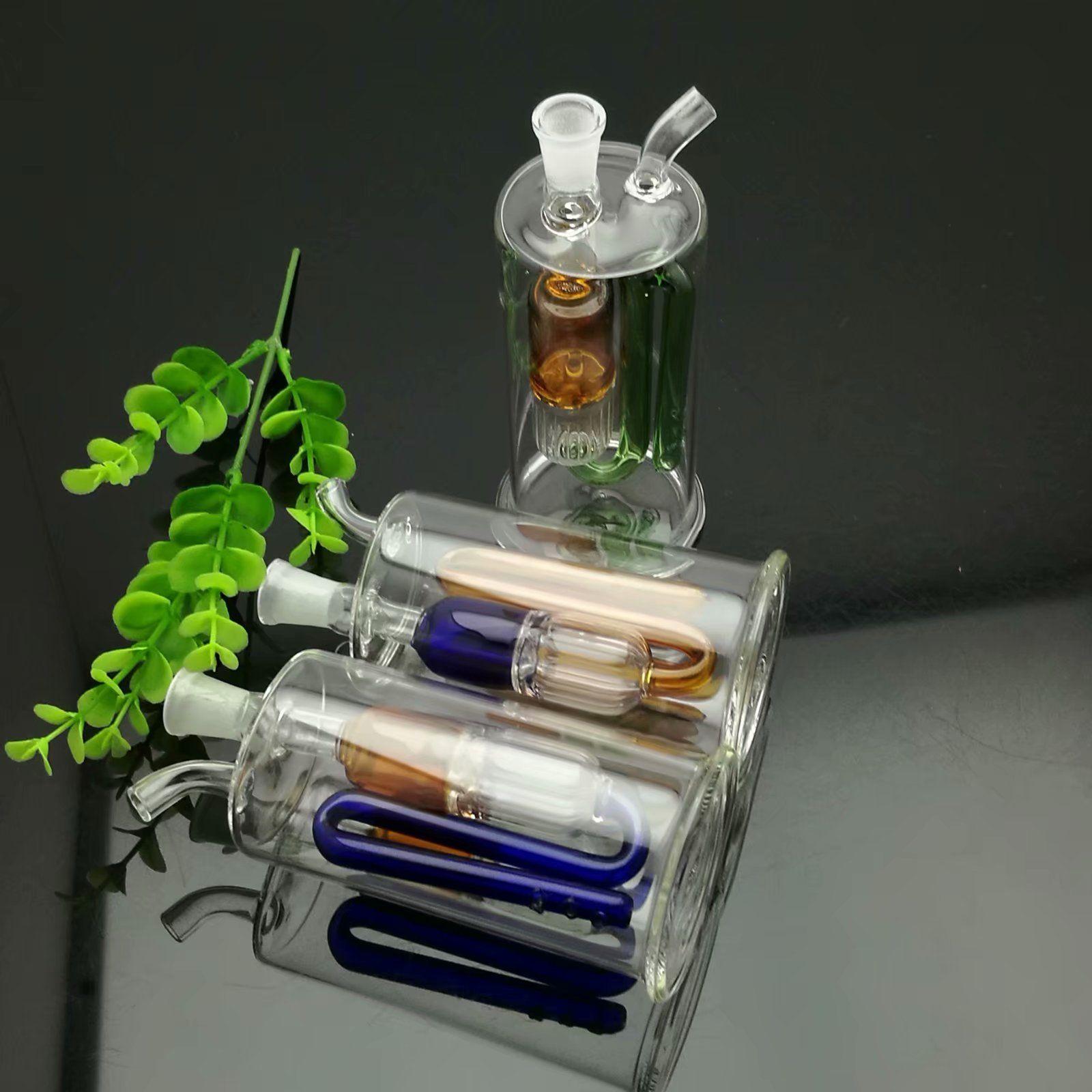 Narguilé en verre de filtre à plis multiples, narguilé en verre, raccords de tuyauterie en verre, fumeur, bateau libre