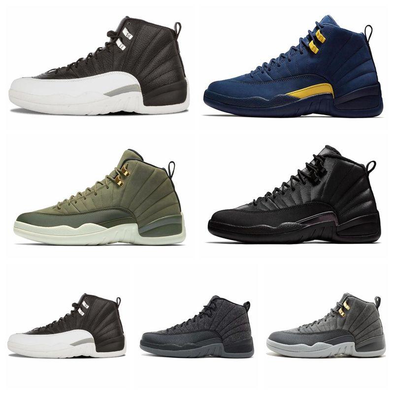 Compre Nike Air Jordan Original AJ AJ12 Moda Para Hombre Zapatos Al Aire  Libre Nuevo Gimnasio Red Michigan College Navy Deportes Clásicos Tenis  Tenis ...