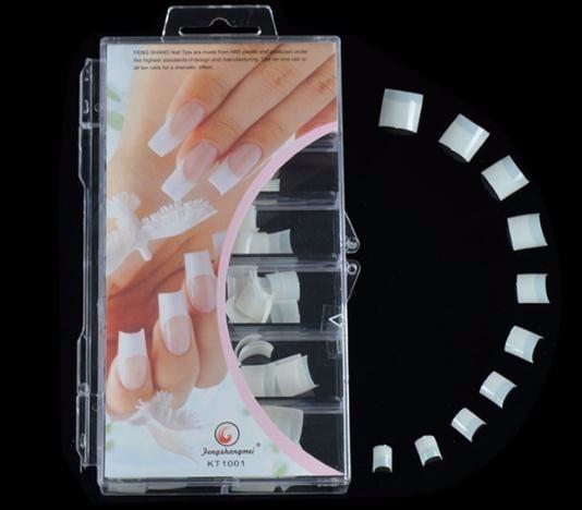 2019 Moitié Couvert Faux Ongles Courbé Faux Français Conseils Pour Ongles Naturel Couleur Salon Faux Ongles Emballage De 100pcs