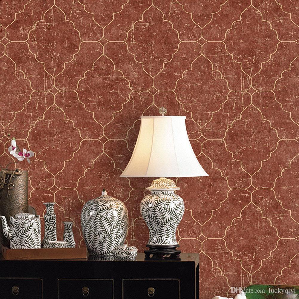 european fresh and elegant 3d wallpaper mottled