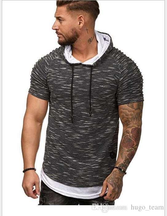 Simple Homme créatif fitness t T-shirts de chemises Vêtements de sport Tee taille plus Nouveau