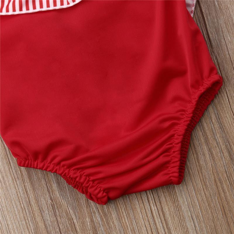 Tout-petits enfants bébé Romper Stripe Maillots de bain maillot de bain Beachwear Bow Bow Bikini Maillots de bain été tankini maillot de bain