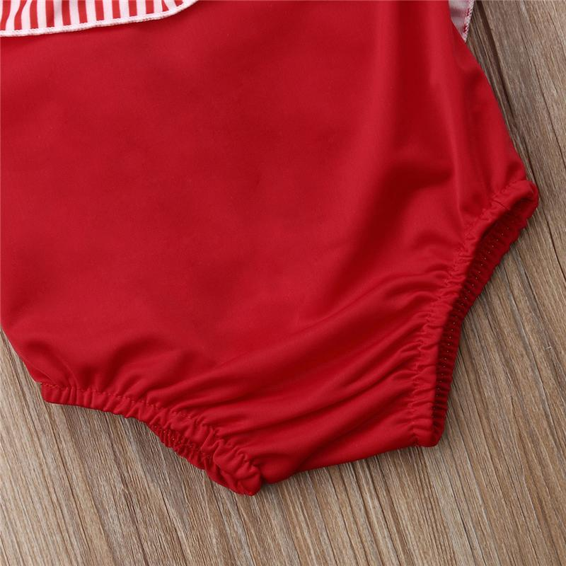 Criança Crianças Baby Girl Romper Stripe Maiô Natação Beachwear Bow Swimming Costumes Bow Bikini Verão Tankini Swimsuit