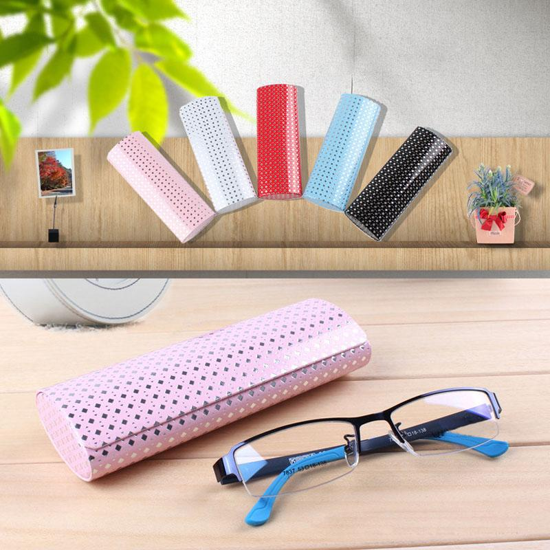 Zyomy Sunglasses Storage Box Portable Eyewear Boxes Hard Case Glasses Package PU Leather Eyewear Protector Travel Accessories