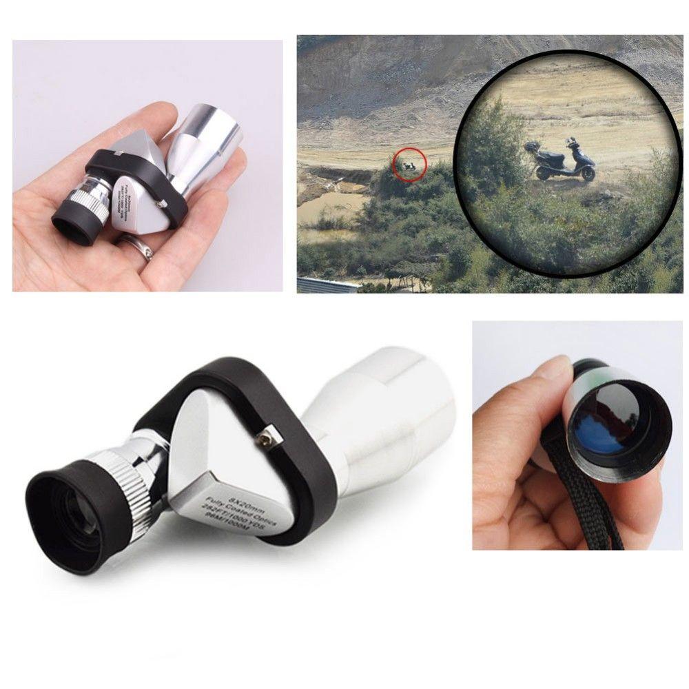 Novo Mini Bolso 8x20 HD Ocular Óptico Telescópio Monocular Ocular para Ao Ar Livre design Moderno 2018