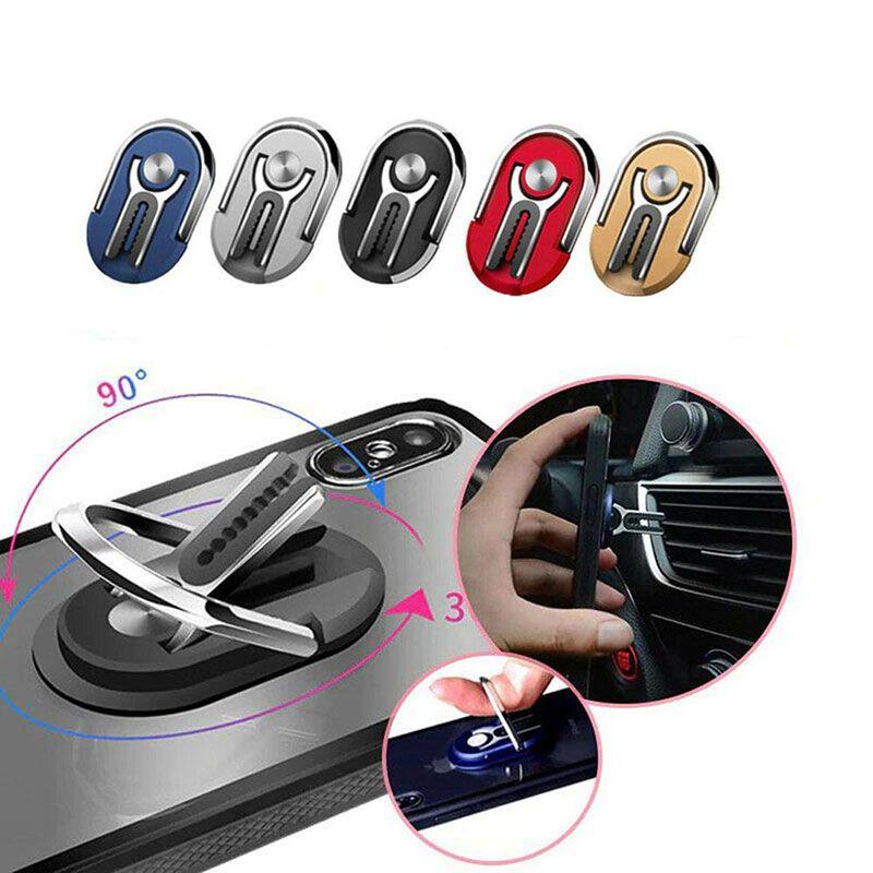 Mehrzweck Handy Halter 360 Grad Auto Air Vent Grip Halterung Stehen Rotation Magnetische Fingerring Telefon Halter Halterung