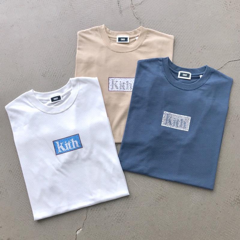 20SS Andys estilo Ice Cream Colores Tee impresión de la manera de la alta calidad de los pares de algodón de manga corta para hombre y mujeres camisetas HFXHTX306