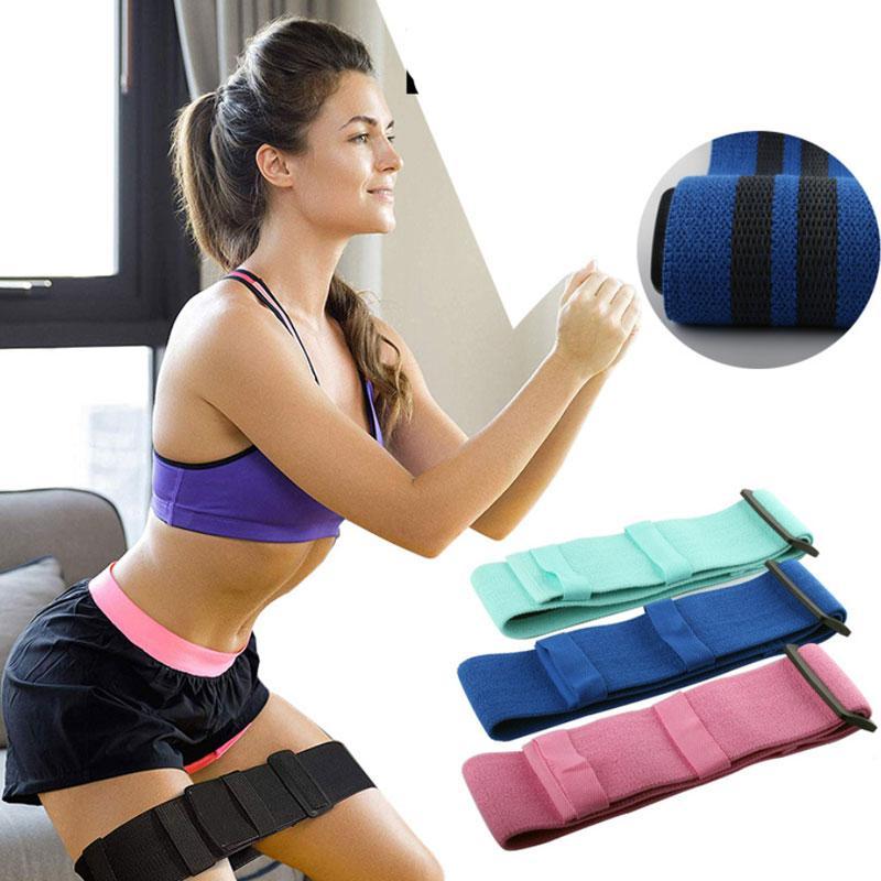 Yeni Dayanıklı Yoga Gym Fitness eğitim Ücretsiz Kargo Şekillendirme Elastik ayarlanabilir Kalça Çember Ganimet Direnç Bantları Egzersizleri