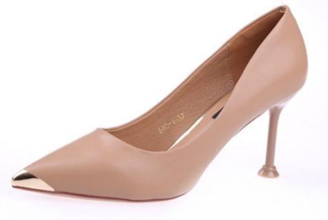 2019 chaussures pour dames au printemps et en automne avec nouveau style talon haut talon fin pointu @ 26