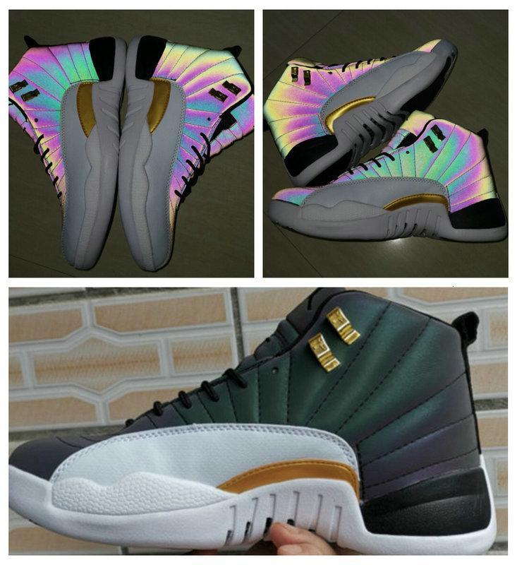 2019 zapatos de baloncesto de los hombres de Michigan 12 zapatos de baloncesto Rojo OVO 3M blanco multicolor Gimnasio Hombres Mujeres Taxi ante azul Juego de la gripe CNY las zapatillas de deporte