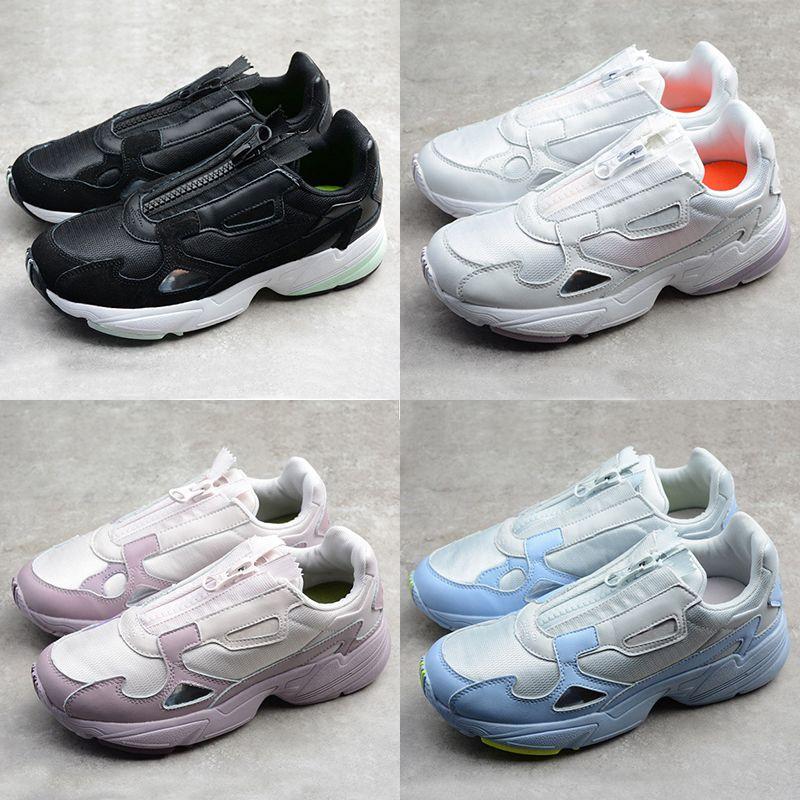 2019 nouvelle version Falcon W Zipper Dad Chaussures Femmes Chaussures Originals galet de roulement Primeknit Chaussures Blanc Noir Designer Formateurs Sport