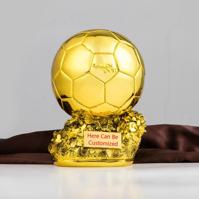 تخصيص بالون كأس الكأس للرجال الكرة الذهبية العالم أفضل لاعب كرة القدم مشجعي كرة القدم تذكارية الديكور الرياضة