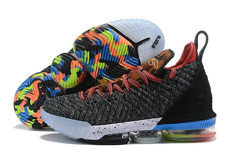 2019 LMTD Starting What the XVI 16s Multicolor Kids Boys Basketball Shoes LeBRon 16 Wolf Grey Sports Size US4-12