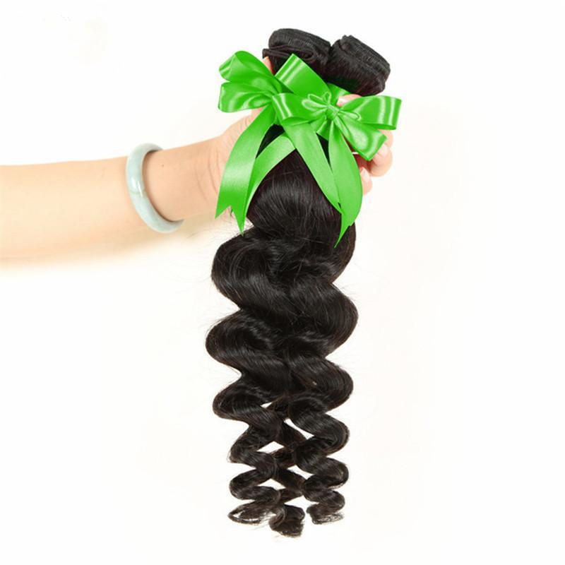 Elibess --Indian lose Remy Haar 4 Bundles Menschenhaarwelle weben reiner Haareinschlagfaden, freies Verschiffen