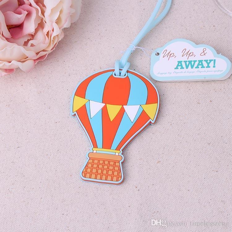 """Nuevo globo bolsa etiqueta favores de la boda """"Up, Up  Away"""" globo de aire caliente etiqueta de equipaje de goma nupcial ducha Favor"""