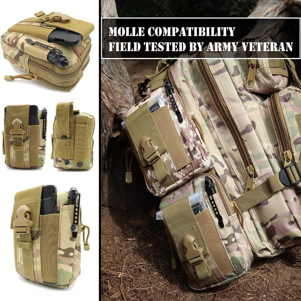 Emergency Survival First Aid Kit EDC Tools Upgraded Molle Pouch Holster Tactical Pen Outdoor Gear First Aid Supply (4)