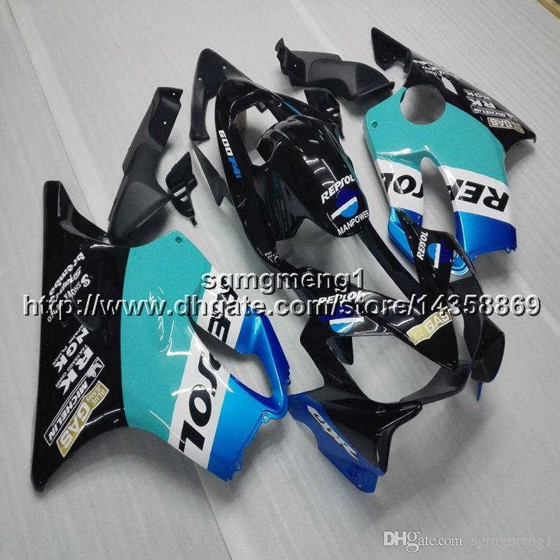 23colors + винты литьевая форма repsol синий мотоцикл обтекатели корпус для HONDA CBR600F4i 2001 2002 2003 F4i 01-03 ABS мотоцикл капот