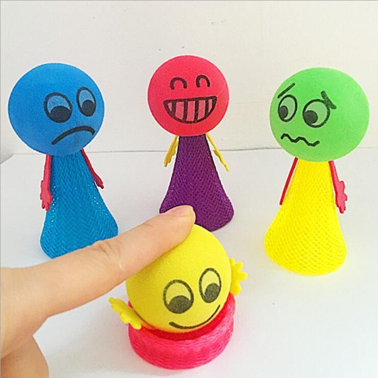 Decompression toy jumping doll children glowing ball toy puzzle game expression toys children gifts random