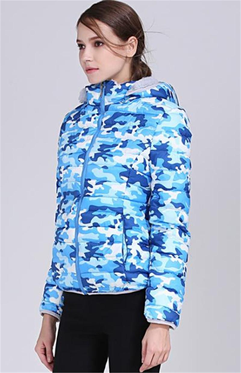 Fashion-Print Womens Designer Cotton Padded Jackets Fashion Slim Pockets Panelled Womens Hooded Cotton Coats Casual Females Clothing