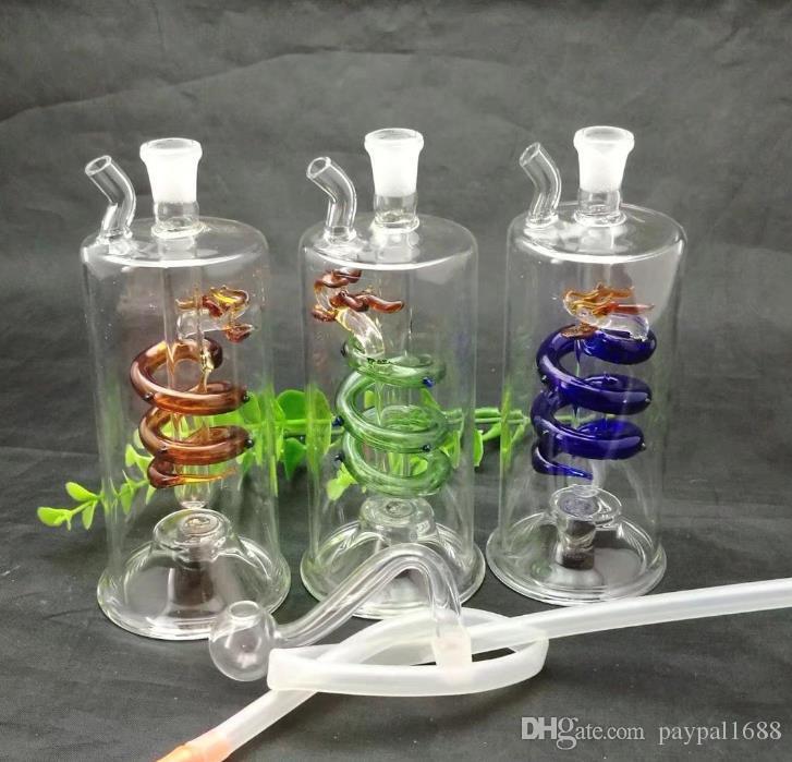Panlong bouteille d'eau en verre en verre en verre bongs de brûleurs à mazout Les conduites d'eau huile Rigs Fumeurs