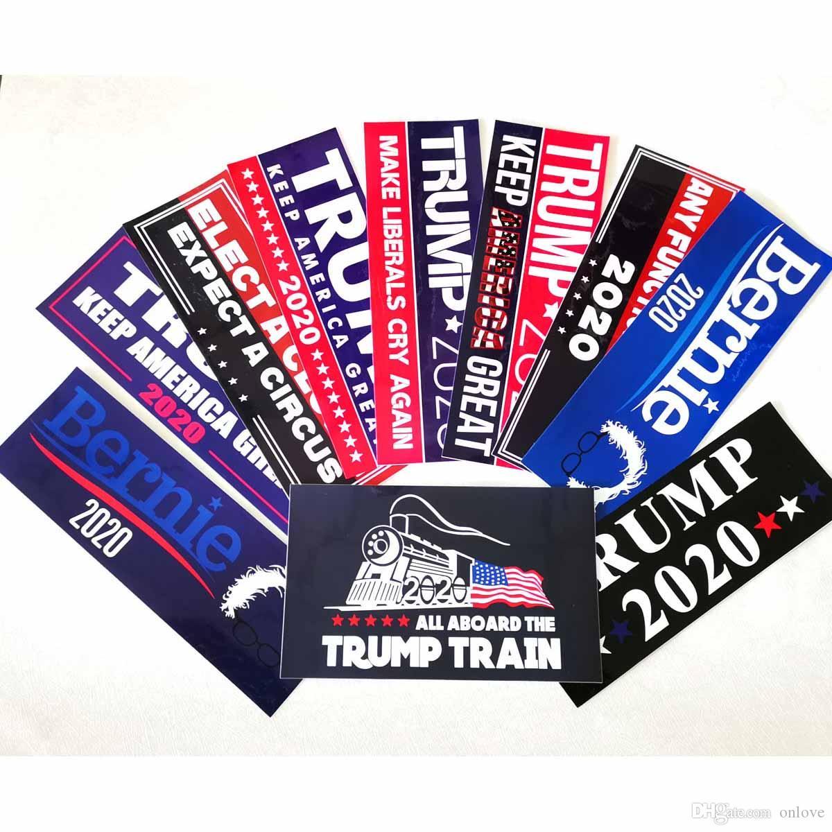 Araç Karoseri Araç Paster Dekoratif XD21907 için Trump Sticker Amerikan Seçim Başkan Araba Etiketler Büyük Çıkartması