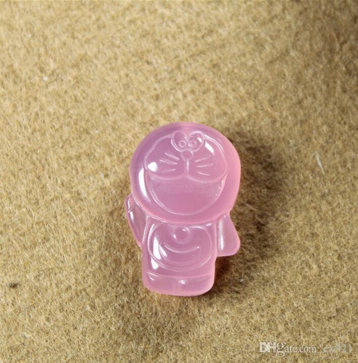 calcédoine agate naturelle pendentif Doraemon chat robot main bijoux collier bricolage pull chaîne accessoires semi-finis